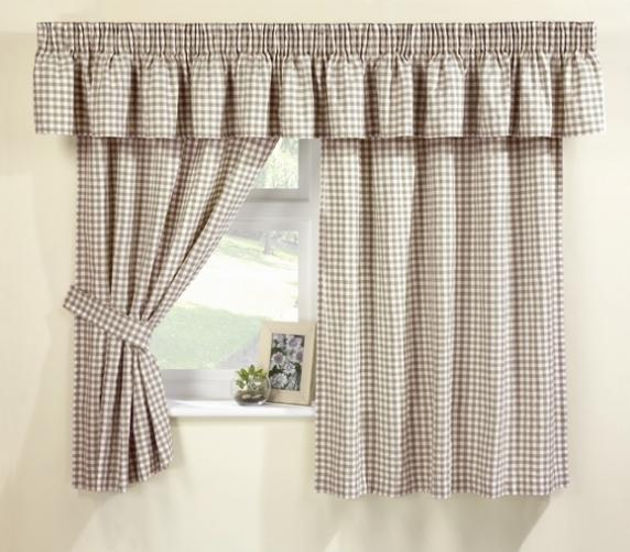 Karo Gardinen Natural Cream Gingham Curtains At Www.perfectlyboxed.com
