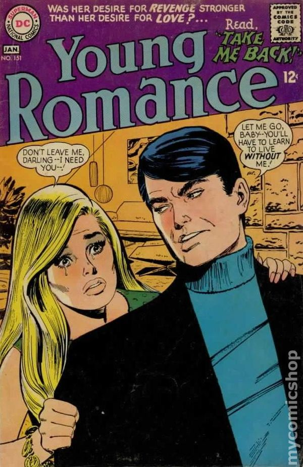 Art Gallery Stock Images Young Romance Comics 1963 1975 Dc Comic Books