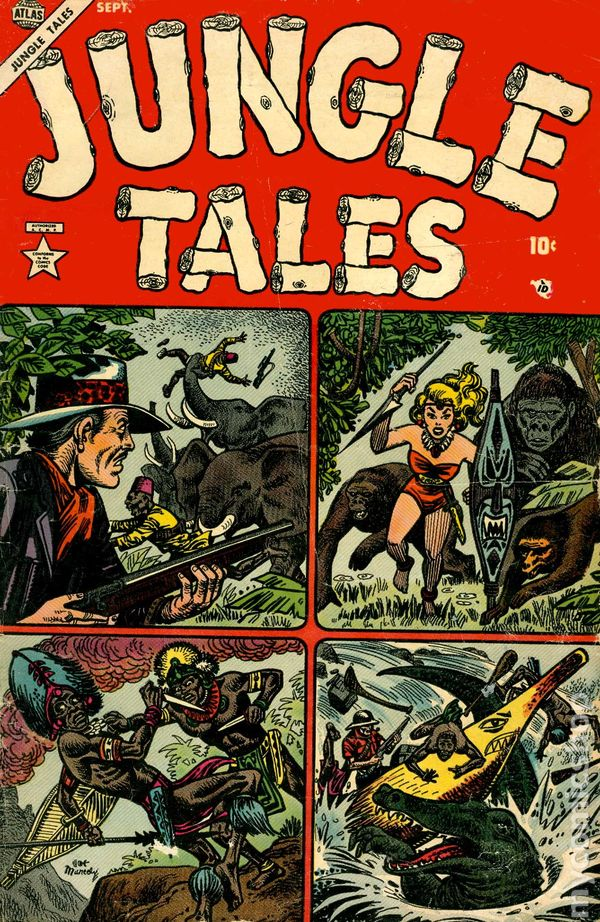 Art Gallery Stock Images Jungle Tales 1954 Atlas Comic Books 1955 Or Before