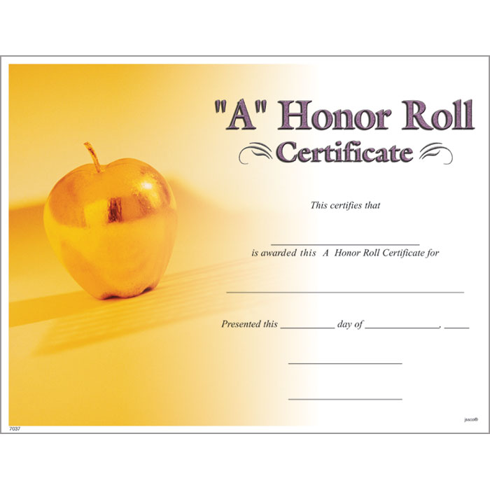A Honor Roll Certificate - Jones School Supply - free printable honor roll certificates