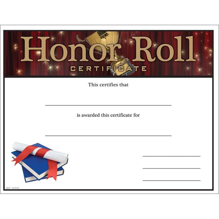Honor Roll Certificate - Jones School Supply - free printable honor roll certificates