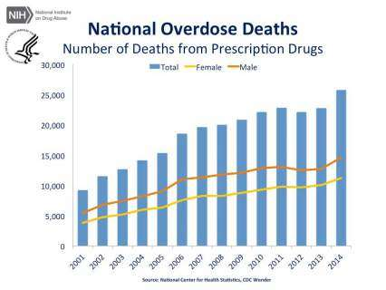 National Overdose Deaths—Number of Deaths from Prescription Drugs.