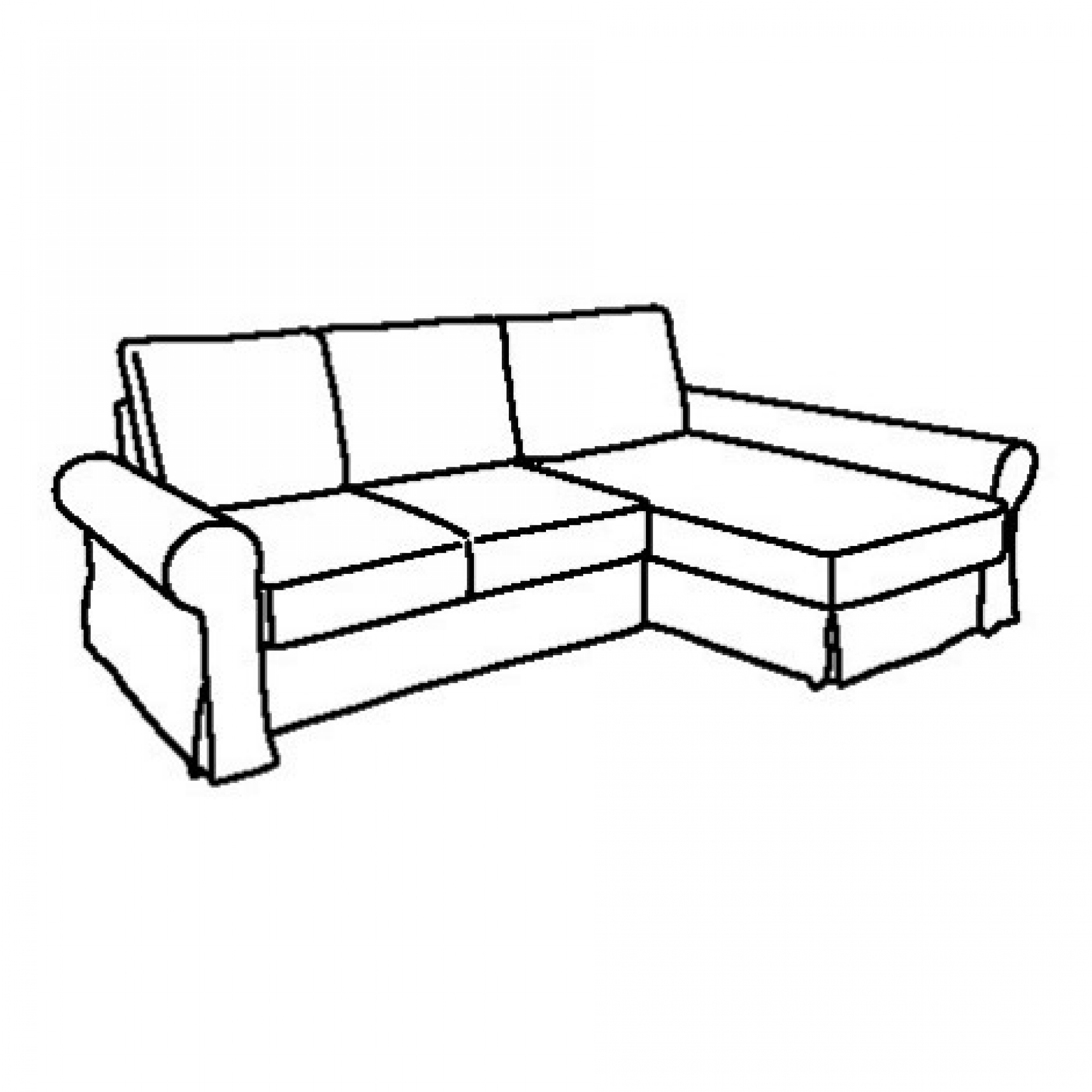Backabro Ecksofa Backabro Frame Sofa Bed With Chaise Longue