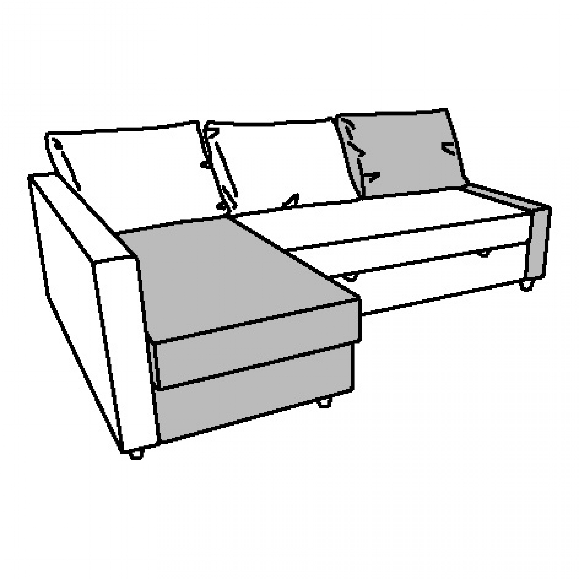 Sofas Ikea Lanzarote Friheten Chaise Longue For Corner Sofa Bed Beige