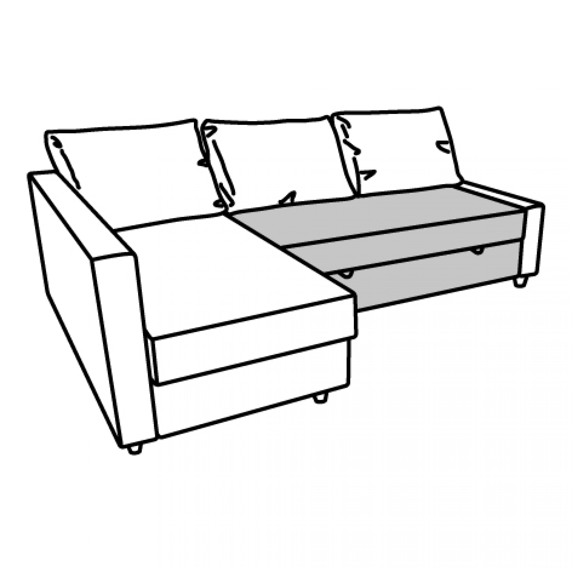 Sofas Ikea Lanzarote Friheten Seat Section For Corner Sofa Bed Dark Grey