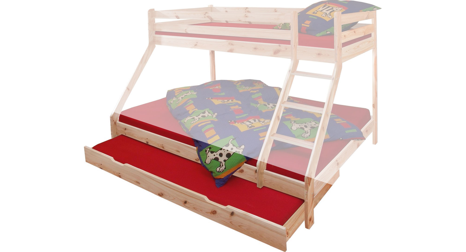 Etagenbett Mit 3 Schlafgelegenheiten : Etagenbett hochbett jakob farbe weiß mit
