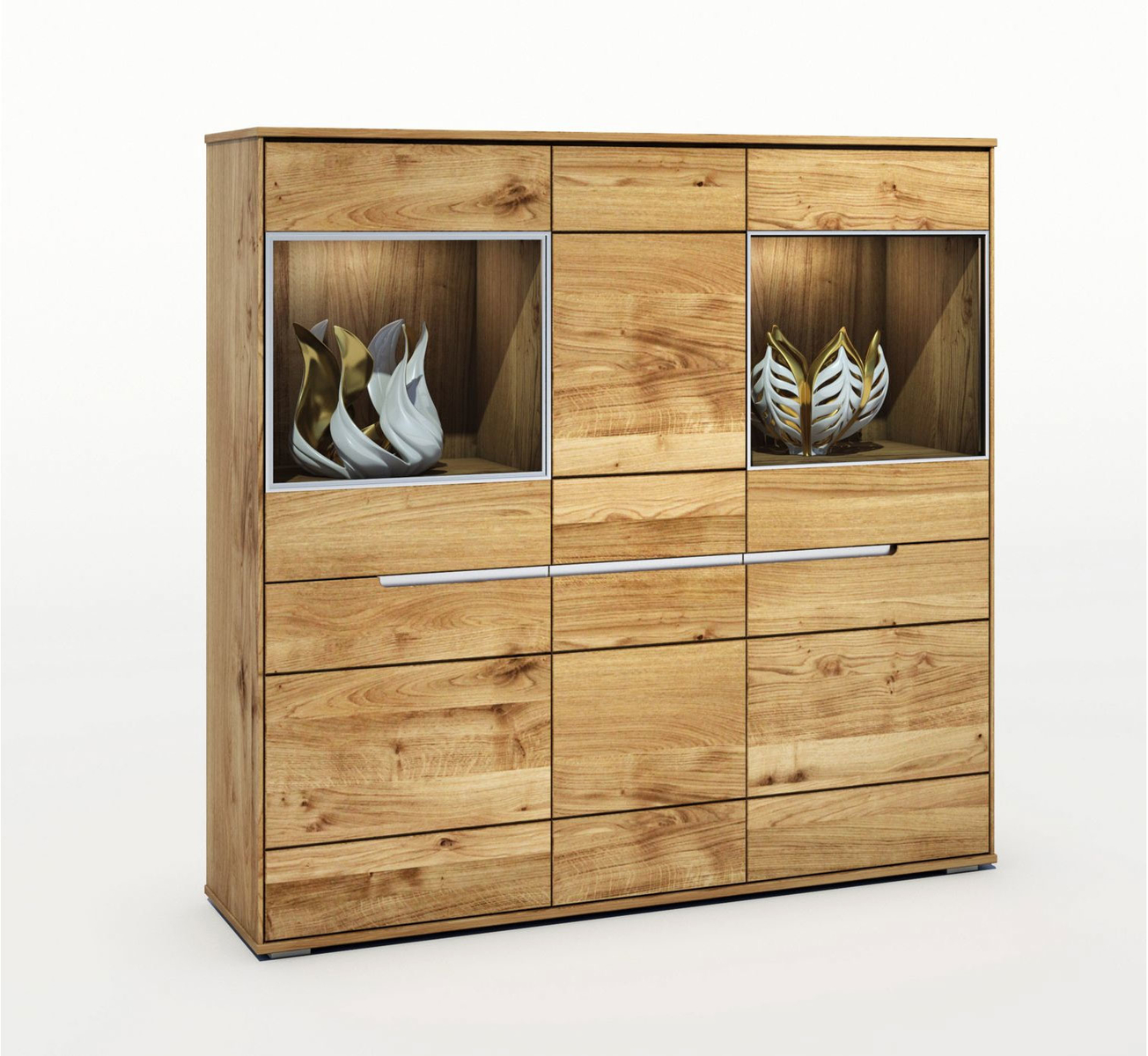 Sideboard Massivholz Elfo Highboard Lissy Massivholz