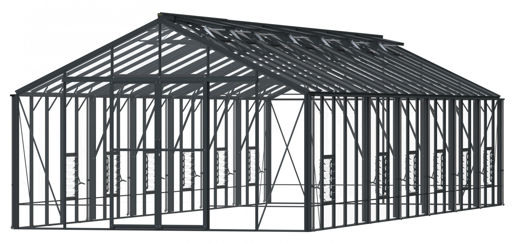 Glasregal 40 X 20 Regal Anthracite Greenhouse 12 6