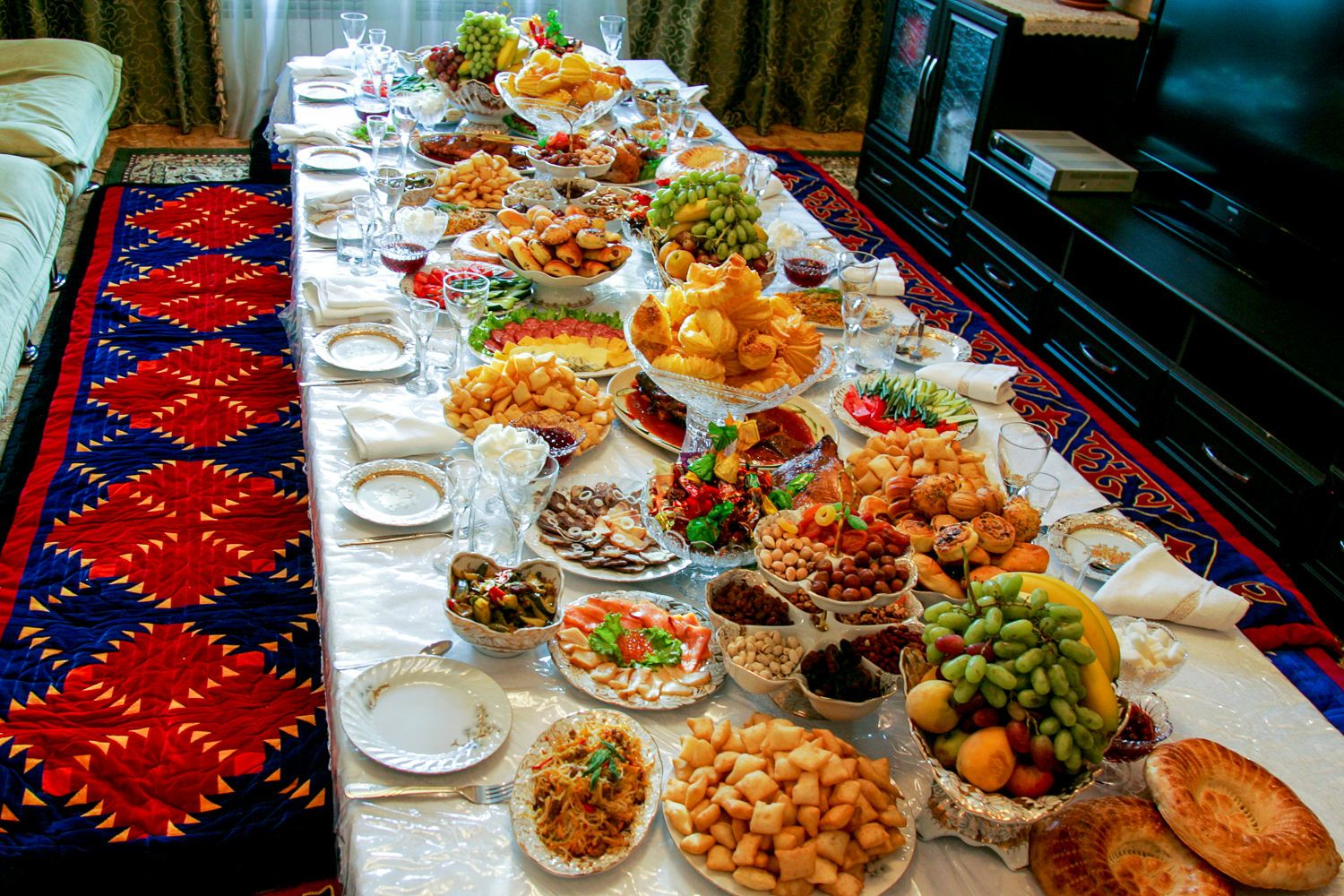 Table Snack Cuisine Central Asian Cuisine Kalpak Travel