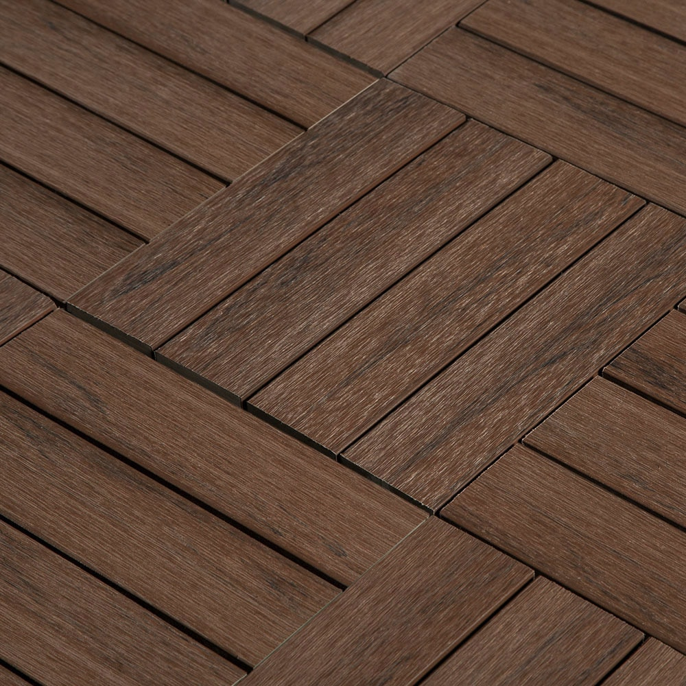 Interlocking Deck Tiles Jf Co Ex Composite Interlocking Deck Tiles Walnut