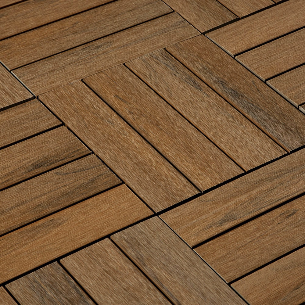 Interlocking Deck Tiles Jf Co Ex Composite Interlocking Deck Tiles Teak