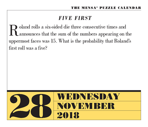 Can You Solve Today\u0027s Brain Puzzlers? November 28, 2018 Page-A-Day