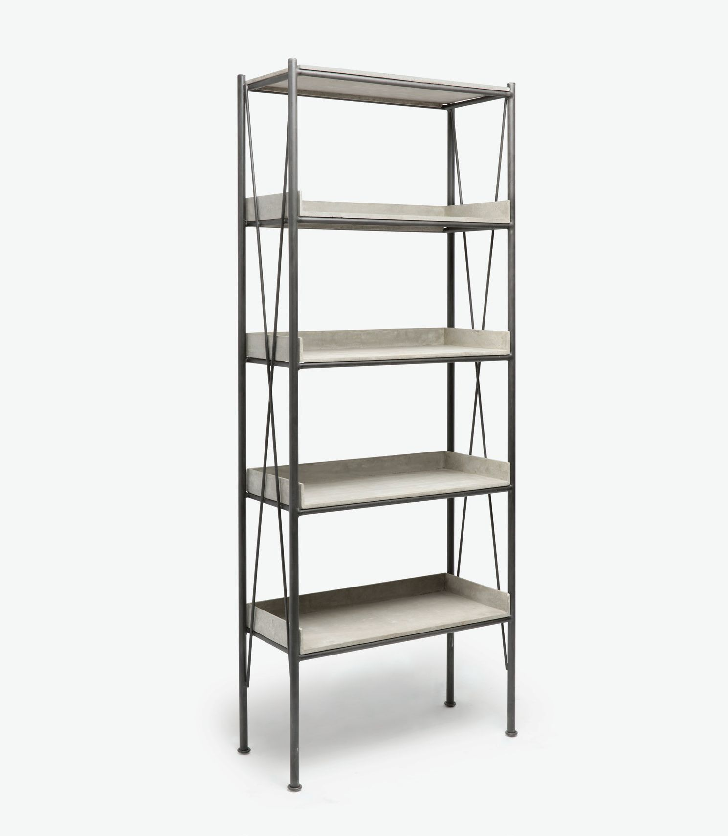 Etagere Metal Outdoor Concrete And Metal Etagere Mecox Gardens