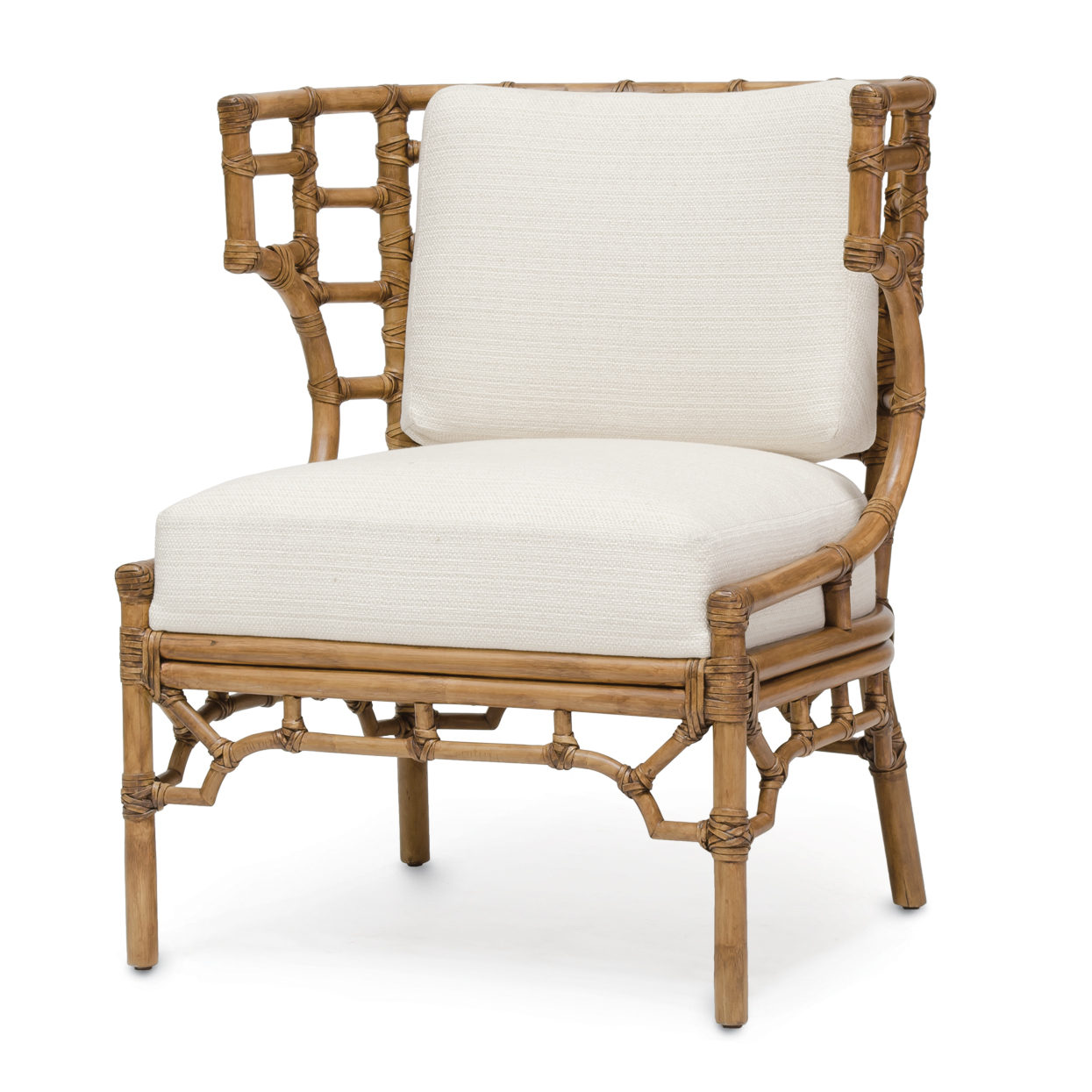 Rattan Chairs Rattan Klismos Lounge Chair Mecox Gardens
