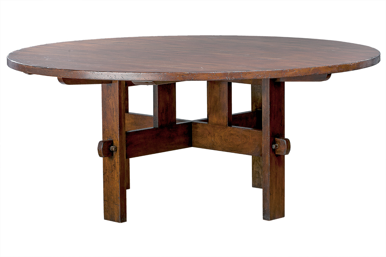 Round Oak Dining Table Round Oak Mission Dining Table Mecox Gardens