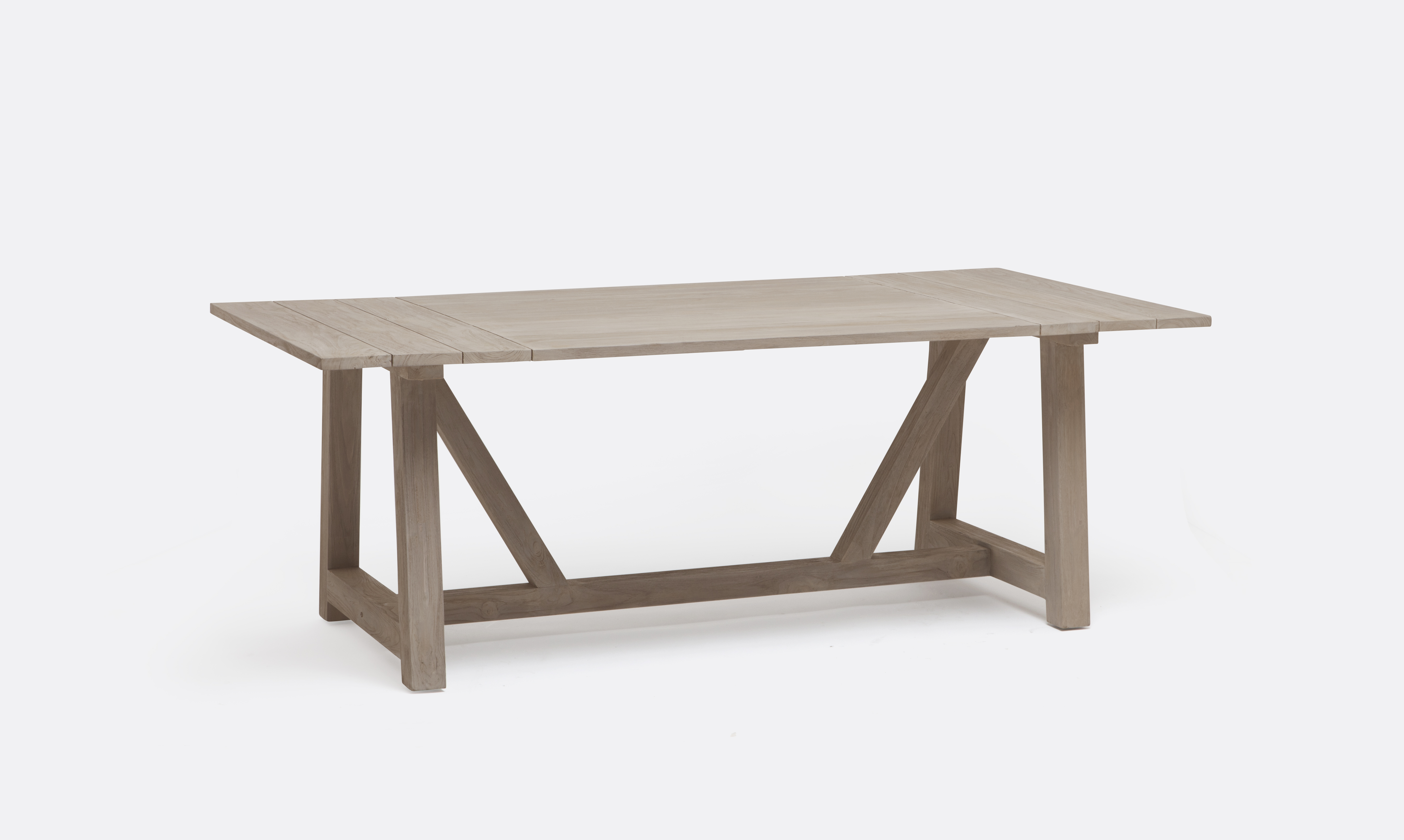 Teak Wandplank Galen Teak Plank Outdoor Farm Dining Table Mecox Gardens