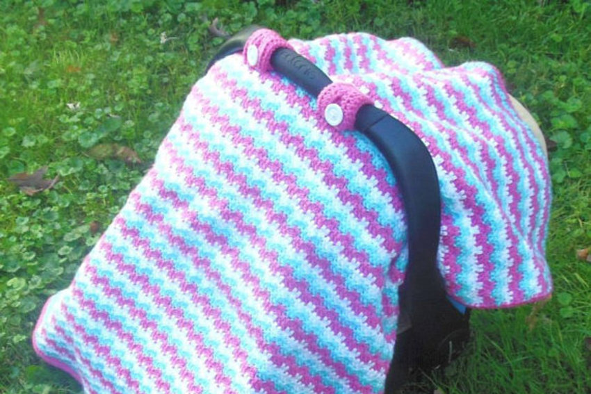 Car Seat Covers For Babies Patterns How To Crochet A Motoring Gift