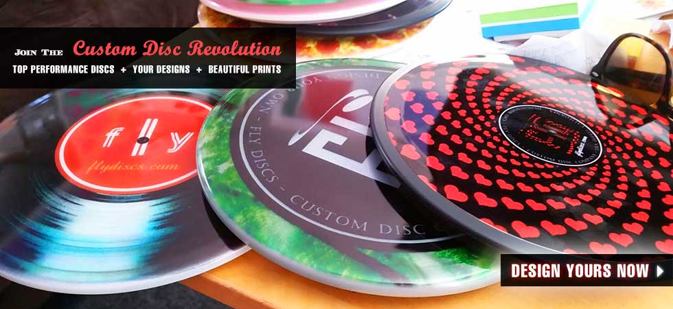 Design Your Own Disc Golf Disc, Ultimate Disc and More Fly Discs