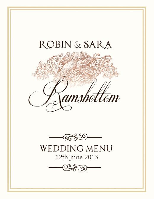 FREE Wedding Menu Design - Photoshop Templates NextDayFlyers - wedding menu template