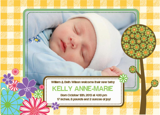 Free Birth Announcements Templates for Photoshop  Illustrator