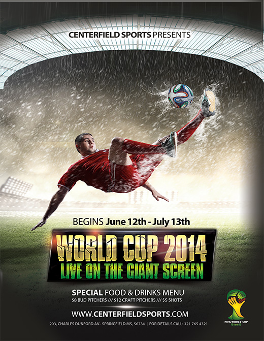 Free 2014 World Cup Templates - Make Your Own Postcard or Flyers For