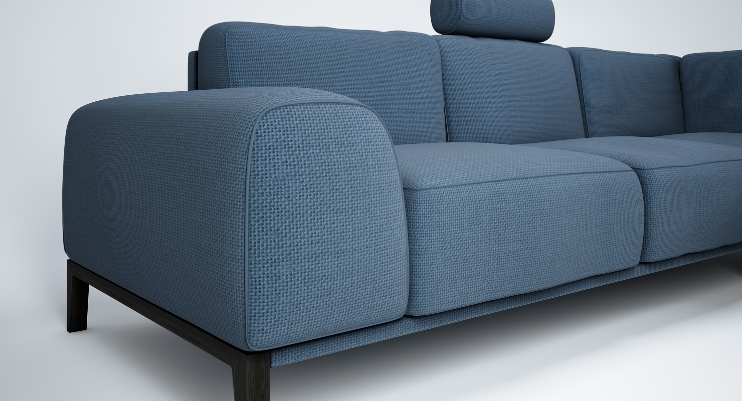 Big Sofa Trendmanufaktur Sofa With Headrest By Trendmanufaktur 3d Model