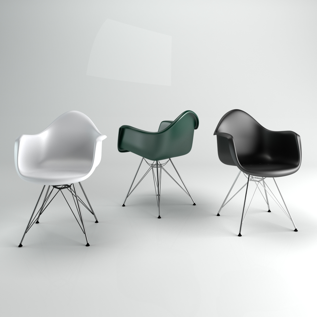 Eames Chair Dar Chair Eames Style Dar 3d Model