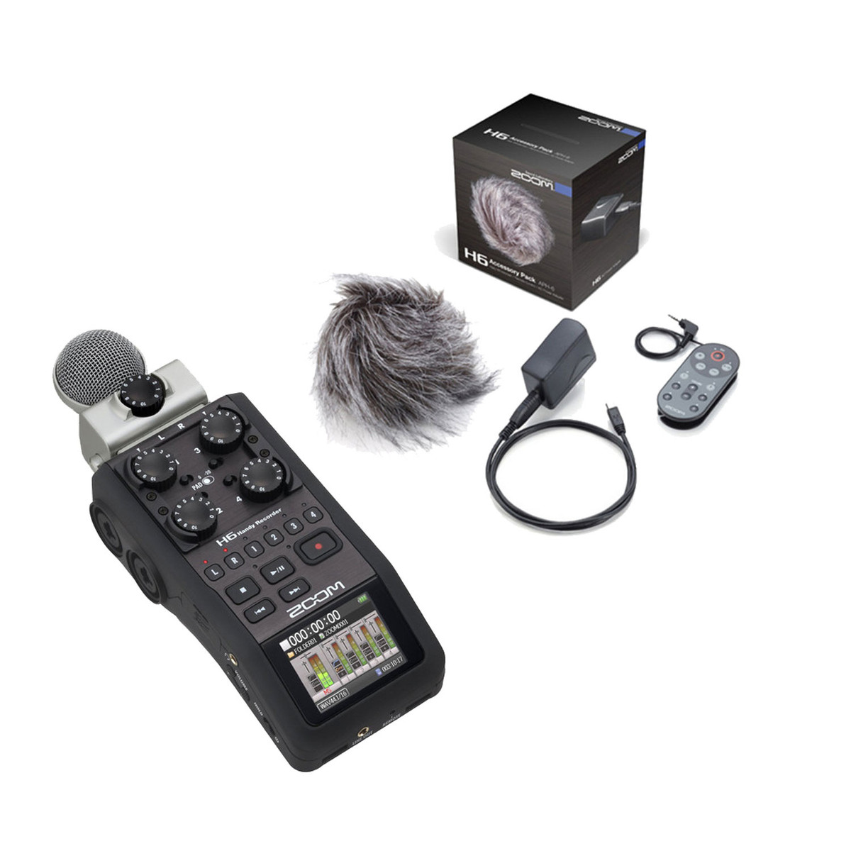 Zoom H6 Recorder Zoom H6 Handheld Recorder With Accessory Pack