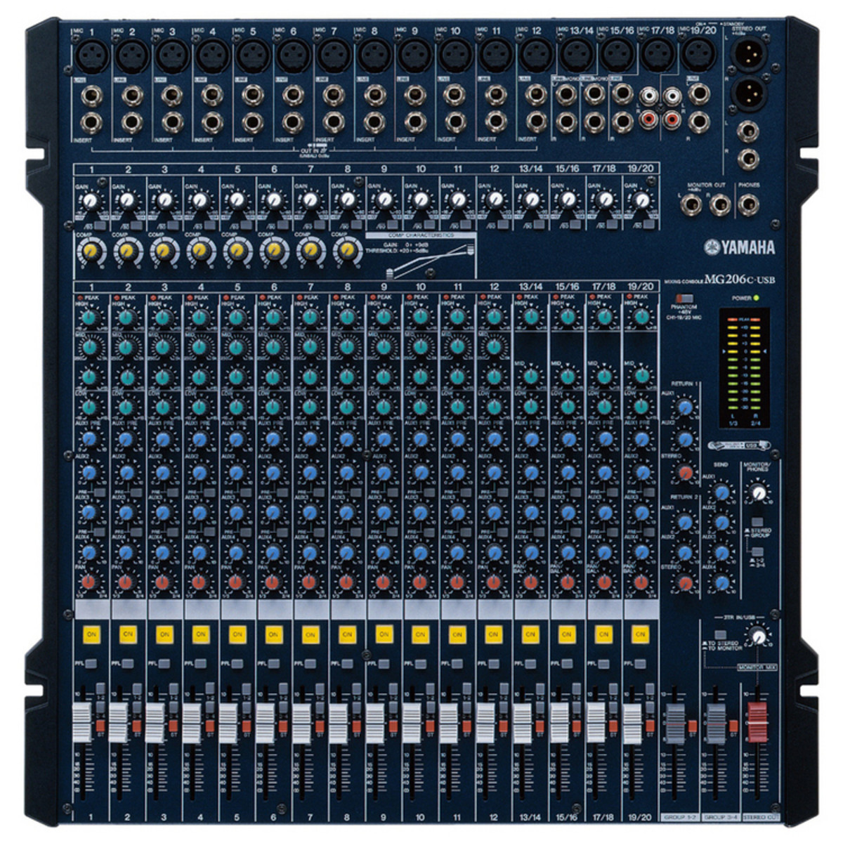 Table De Mixage Numérique Occasion Yamaha Mg206c Usb Mixer Nearly New
