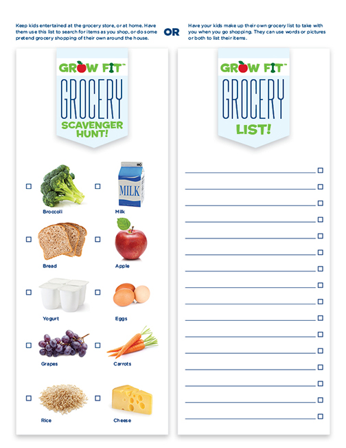 Free Printable Grocery Shopping List for Kids La Petite Academy - printable shopping list with categories