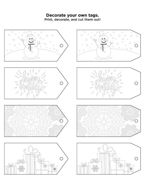 Personalized Holiday Gift Tag Template LaPetite Academy