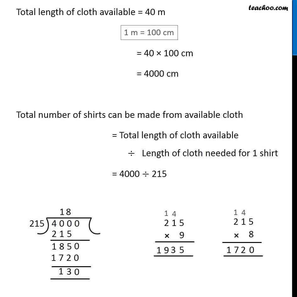 9 To Cm Ex 1 2 9 To Stitch A Shirt 2m 15cm Cloth Is Needed Out Of 40 M