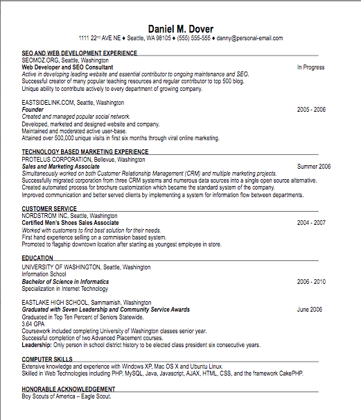 is my resume good 04052017