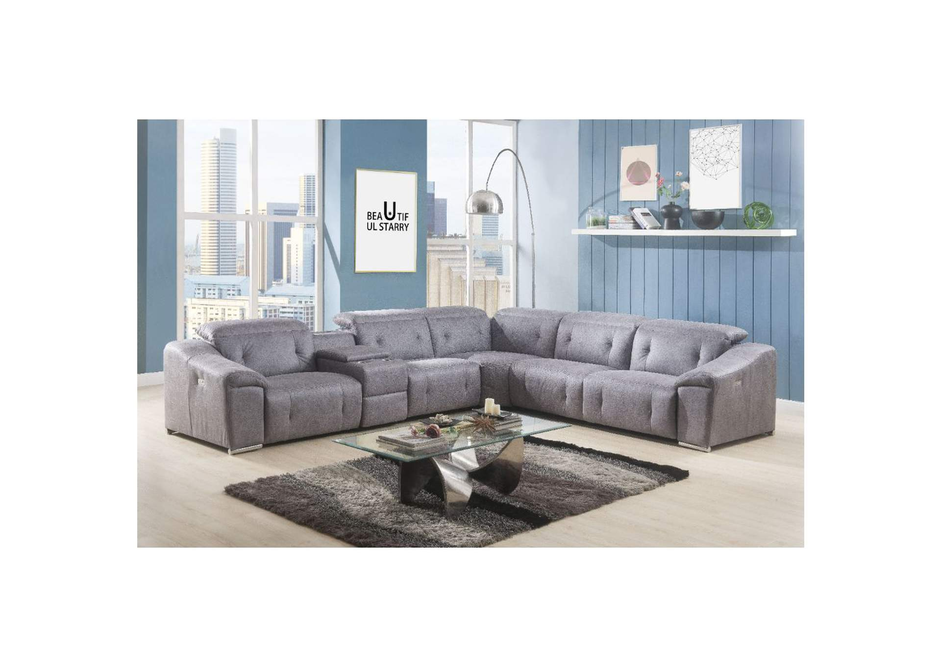 Microfiber Sectional Sofa The Furniture Outlet Ny Hosta Gray Microfiber Sectional Sofa