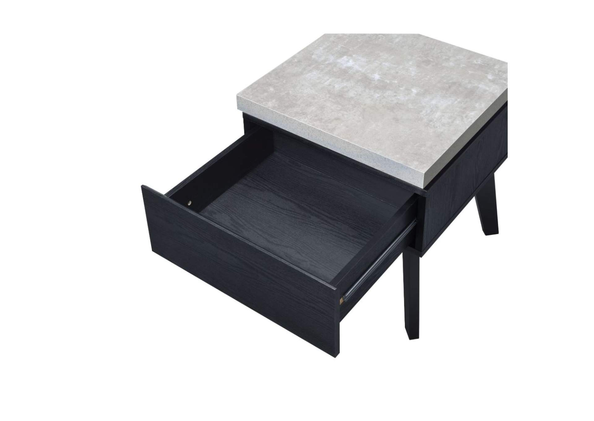 Black End Tables With Drawer The Furniture Outlet Ny Magna Black End Table