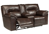 Jarons Barrettsville DuraBlend Chocolate Double Reclining ...