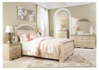 S&S Furniture Gallery Catalina Antique White Queen Sleigh Bed