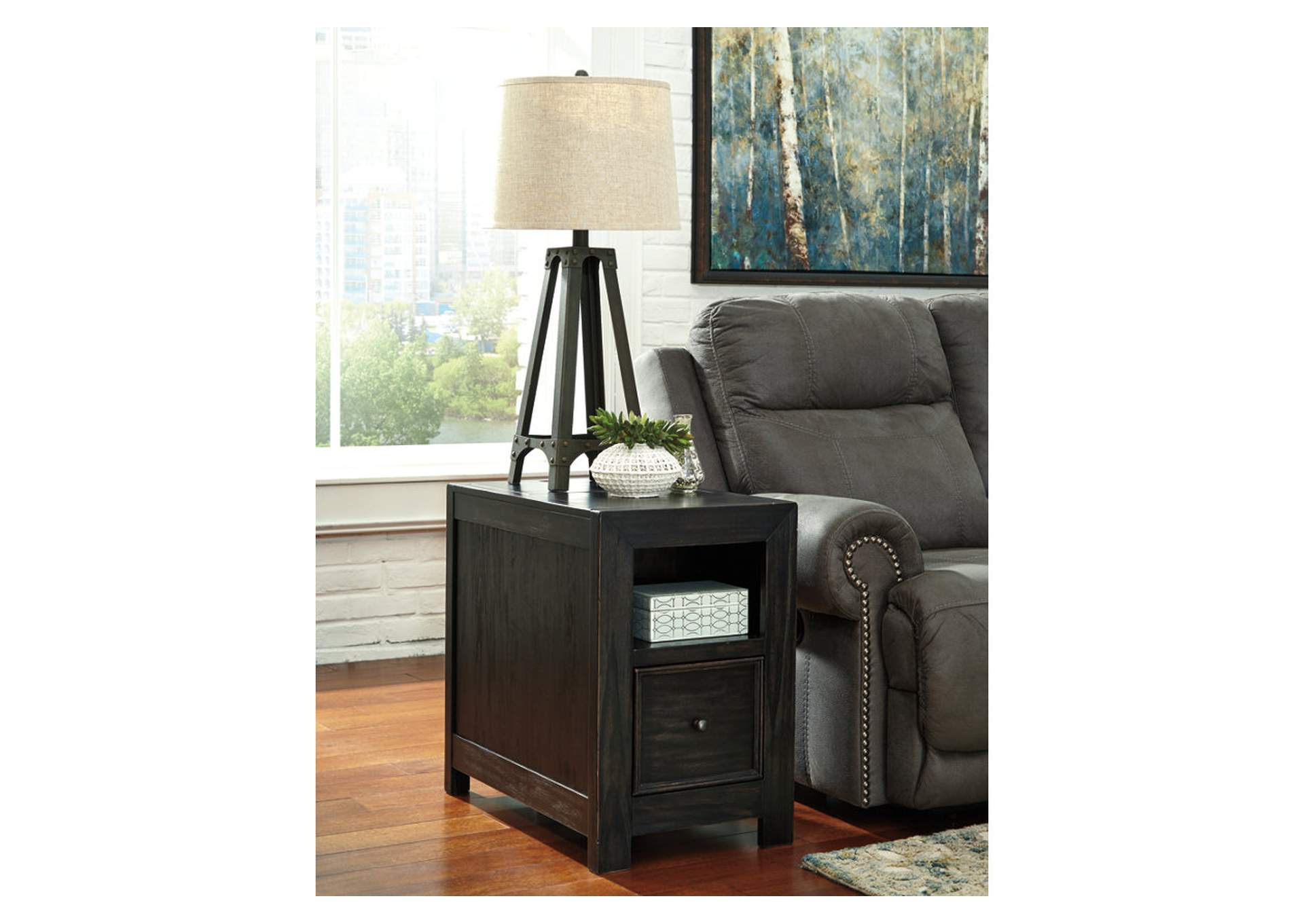 Curly39s Furniture Gavelston Chair Side End Table