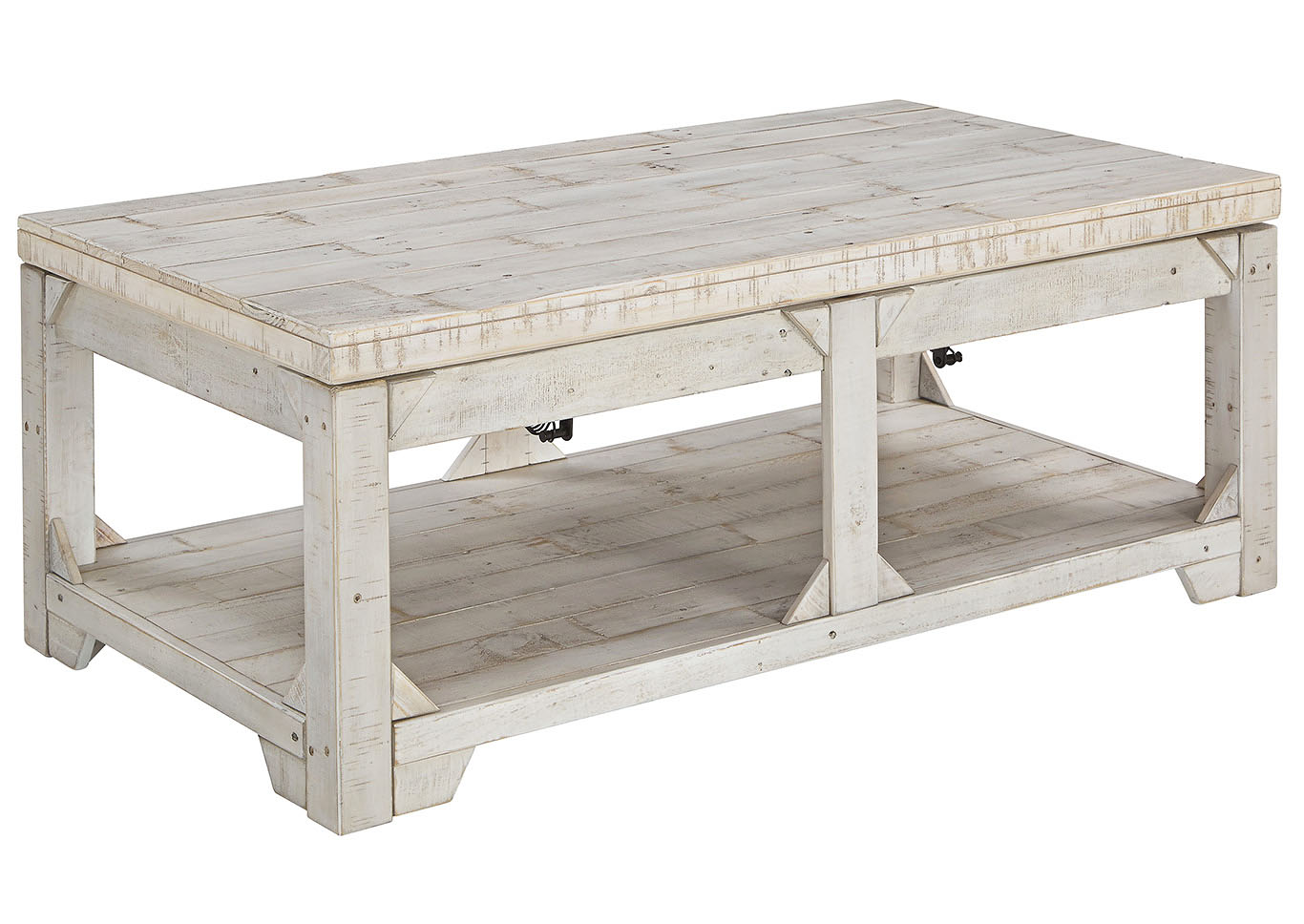 Warehouse Table Johnson S Warehouse Fregine Whitewash Lift Top Cocktail Table