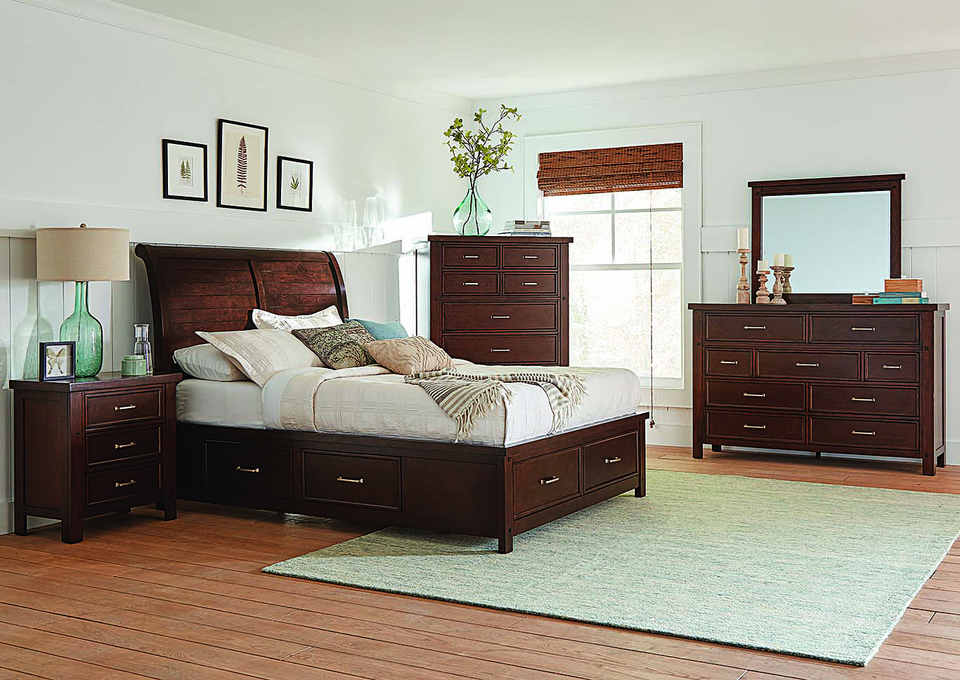 Bedding Storage Sweet Dreamzzz Bedding Furniture Barstow Pinot Noir Eastern King
