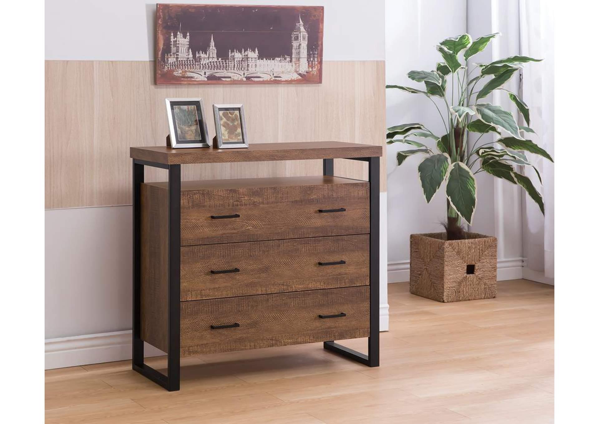 Oak Furniture Liquidators Rustic Amber Accent Cabinet