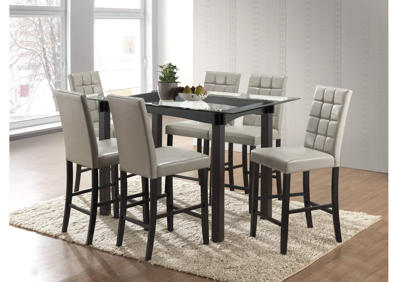 Ivan Smith Zora Counter Height Dining Table W Glass Top