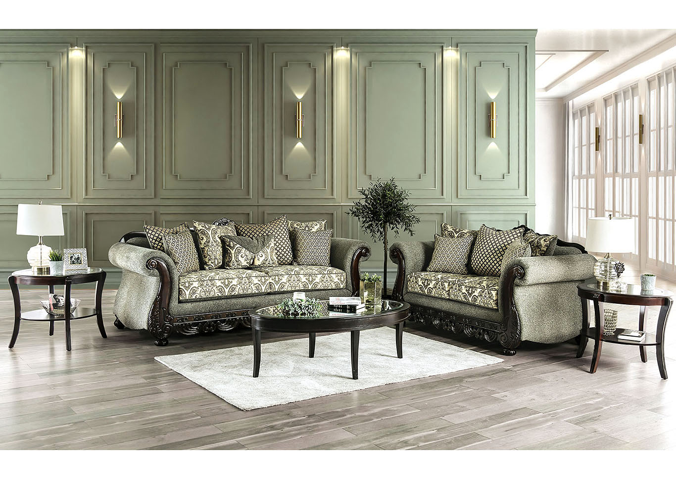 Gray Sofas For Living Room Ideal Furniture San Antonio West Justina Gray Sofa Loveseat