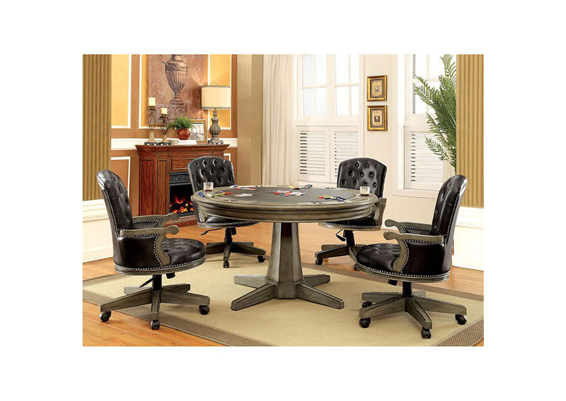 Furniture Ville Bronx Ny Yelena Gray Game Table
