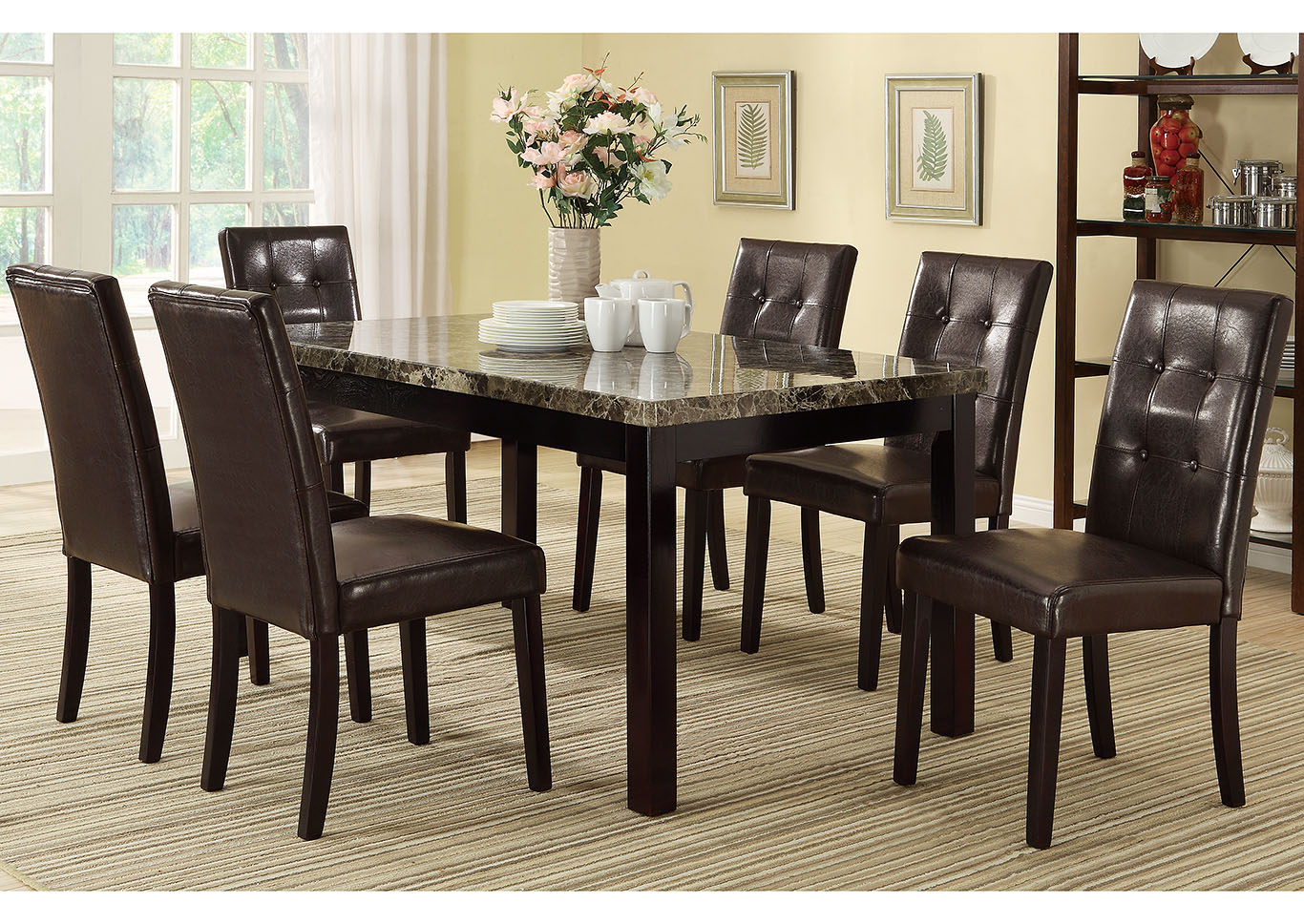 Leather Dining Room Chairs Market Furniture Paterson Nj Brown Faux Leather Dining Chair