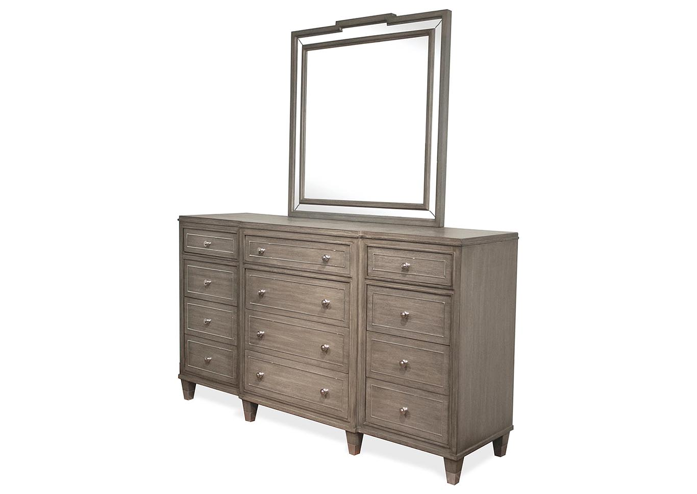 12 Drawer Chest Of Drawers Kirk Imports Dara Two Gray Wash 12 Drawer Dresser