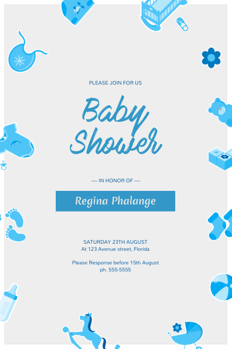 Baby Shower Flyer Template PosterMyWall