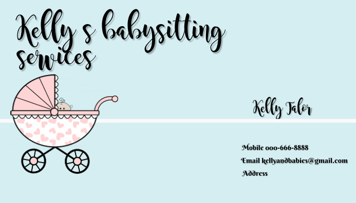 babysitting business card template PosterMyWall