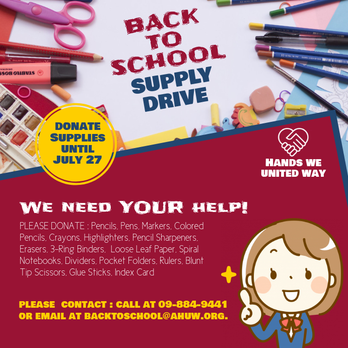 Back to School Supply Drive Instagram Post Template PosterMyWall