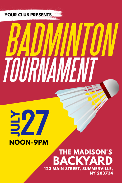 badminton competition flyer - Brucebrianwilliams - competition flyer template